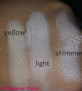 Highlight Shades L - R Yellow, Light, & Shimmer